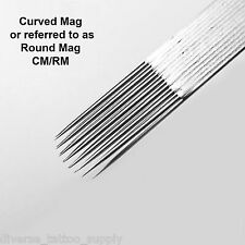 50 Disposable Sterile Tattoo Curved or Round Flat Magnum Shader Needles CM RM