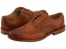 NIB!! SEBAGO Mens Brattle Oxford Lace Up Casual Shoes British Tan Leather B19060