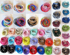 12 Girls High Quality Thick Endless Snag Free Hair Elastics Bobbles Bands Ponios