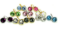 Baby Round Bella Women Crystal Earrings made with Genuine SWAROVSKI Crystals