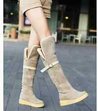 2013 WINTER FASHION BELT BUCKLE FLATS PLATFORM MARY JANE SNOW BOOTS