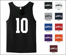 Number 10 Ten Sports Number Jersey Tank Top Front Print