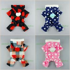 Fuzzy Dog Clothes Winter Pet Coat Warm Pajamas Cat Jumpsuit Hooded Free Shipping