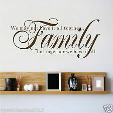 FAMILY We may not have it all together wall quote decal stickers living room