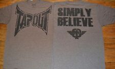 "Tapout ""SIMPLY BELIEVE"" Light Weight Tee T-Shirt MMA FIGHT CLUB"