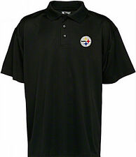 Pittsburgh Steelers NFL Team Apparel Embroidered Black Polo Golf Shirt