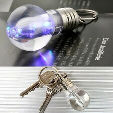 Colorful Bulb Lamp Creative Emergency Lighting LED Flashlight Keyrings Chains