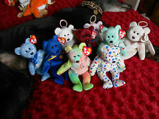 TY BEANIE BABIES WITH TAGS - CREATURES & BEARS RETIRED - FOR GREYHOUND RESCUE