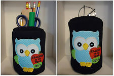 "Owl Teacher of the Year 2016 Fabric Eyeglass Case ""OR"" Fabric Pencil Holder"