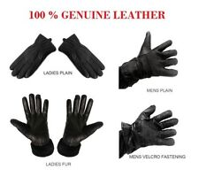Real Genuine Soft Nappa Leather Gents Mens Ladies Driving Winter Gloves Fur