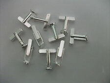 ANGLED PAD CUFFLINKS BLANKS SQUARE BUCKLE 8mmPAD ADD QUALITY TO YOUR CREATIONS