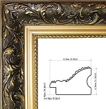 """Gold Picture Frame Wood 2.5"""" Wide For Poster Paintings Arts Canvas"""