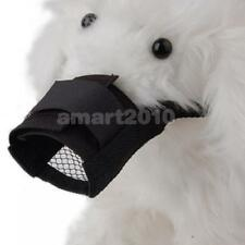 Pet Dog Puppy Soft Nylon Mesh Velcro Closure Anti-bark Bite Muzzle Size S M L XL