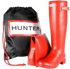 HUNTER ORIGINAL TALL TOUR RED WELLINGTON BN BOOTS Welly RED PACKABLE FOLD