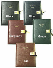 Cathian 5 year diary in Montana grain leather - A5 - leaf size 210mm x 146mm