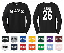 Rays Custom Personalized Name & Number Long Sleeve Jersey T-shirt