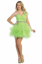Sexy Short Tutu Homecoming Prom Dance Cocktail Party One Shoulder Designer Dress