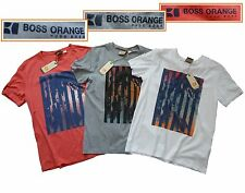 NWT Hugo Boss Orange Label By Hugo Boss LOGO Tee T-Shirt with Printed Design L