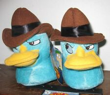 Disney's Phineas & Ferb Agent P Perry the Platypus Kids 3-D Plush Slippers