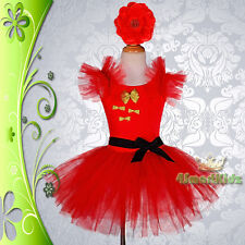 Girl Fairy Fancy Party Dress Flower Ballet Tutu Dance Costume Girl Size 2-9 #033