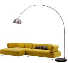 MODERN NEW RETRO CHROME EFFECT ARCO FLOOR LAMP