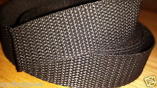 "25mm 1"" Wide Black Nylon Webbing Strong Good Quality"
