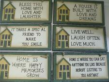 SLATE HOUSE HANGING WALL PLAQUE GIFT PRESENT SIGN HOME DECOR ACCESSORY