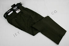BOYS DARK OLIVE DRESS PANTS PLEATED TROUSERS WITH BLACK BELT Sizes 4-14