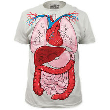 New Human Body Internal Organ Diagram Anatomy Costume Outfit T-shirt top adult