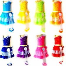 Mini Kinder Mädchen/Damen Cheerleader-Kostüm/Fasching/Cosplay Kleid Dress S,M,L