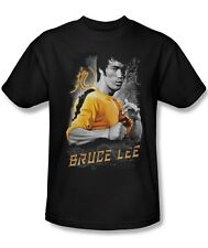 Bruce Lee Yellow Dragon Licensed Tee Shirt Adult S-3XL