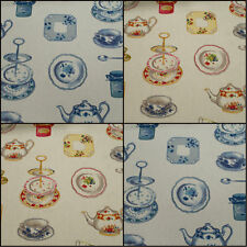 ☆SMD Afternoon Tea Cherry Wedgewood Designer Curtain Upholstery Fabric Roll ☆