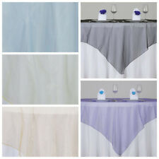 "25 pcs 72x72"" Sheer Organza Overlays Wedding Wholesale Table Party Decorations"