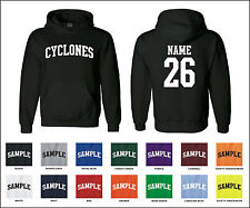 Cyclones Custom Personalized Name & Number Adult Jersey Hooded Sweatshirt