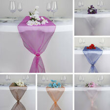 """20 ORGANZA 14x108"""" Table RUNNERS Wedding Party Reception Tabletop Decorations"""