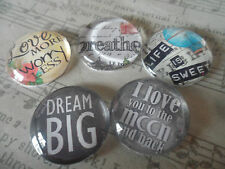 Positive Quote Images Glass Cabochons for Jewellery Projects,Scrapbook,Crafts
