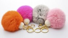 New Big Size Genuine Rabbit Fur Ball Key Chains Rings For Bag,Car  Accessories