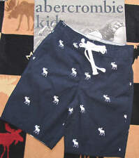NWT ABERCROMBIE KIDS BOYS ALL OVER LOGO SWIM TRUNK - SZ M OR L