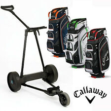 eMotion e3 Electric Pull/Push Golf Caddy Trolley 23LB + Callaway Cart Bag