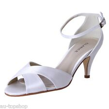 Cheap Clarice Satin Dressy Bridal Shoes Debutante Mary Wedding Shoes Polly Ivory