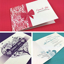 Personalised Folded Day Wedding Invitations with Envelopes