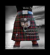 Kilt WELSH SPIRIT TARTAN© A Tribute to Wales 16oz fabric