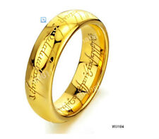 Tungsten Lord of Rings LOTR Gold Plated Wedding SIZE : 6 - 15   WJ194