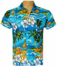 AQUA PARADISE BEACH MENS BRAND NEW LOUD STAG HOLIDAY LEISURE CASUAL PARTY SHIRT