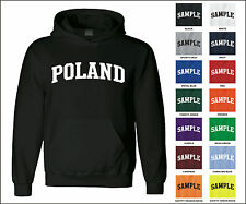 Country of Poland College Letter Adult Jersey Hooded Sweatshirt