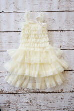 Ivory Flower Girl Dress,Lace,christening, Lace Dress,Wedding,6 mo,12 mo,2T,3T,4T