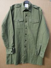 BRITISH ARMY ISSUE HEAVIER DUTY OLIVE GREEN GENERAL SERVICE SHIRTS- GRADE 1 USED
