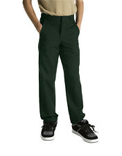DICKIES BOYS HUNTER GREEN SCHOOL PANTS FLAT FRONT 56562 Sizes 4 to 20