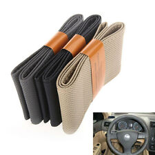 Leather DIY Car Steering Wheel Cover With Needles and Thread 3 Color Choose New