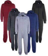 Mens Womens New Diamond Quilted Hooded Onesie All In One Jumpsuit Size S M L XL
